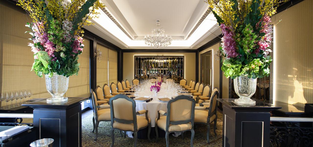 Cha ne dinner at le normandie mandarin oriental hotel bangkok for Chaine hotel restaurant